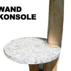 Wandregal-Konsole aus Lindenholz Astgabel